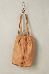 Anthropologie Centerfold Backpack Taupe