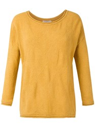 Mara Mac Textured Knit Blouse Yellow