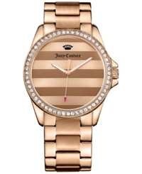 Juicy Couture Women's Laguna Rose Gold Tone Stainless Steel Bracelet Watch 40Mm 1901290