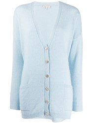 Emilio Pucci Oversized Knitted Cardigan Blue