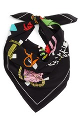 Moschino Women's Paper Doll Silk Scarf