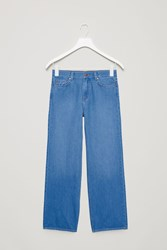 Cos Straight Wide Leg Jeans Blue
