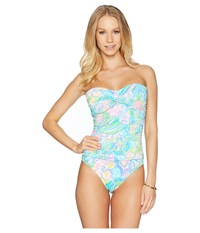 Lilly Pulitzer Flamenco One Piece Swimsuit Bennet Blue Surf Gypsea Swimsuits One Piece Multi