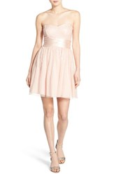 Women's Speechless 'Tinley' Sequin Strapless Fit And Flare Dress