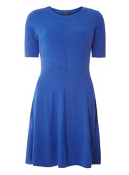 Dorothy Perkins Cobalt Fit And Flare Knitted Dress