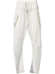 Lost And Found Ria Dunn Double Waist Trousers Cotton Silk White