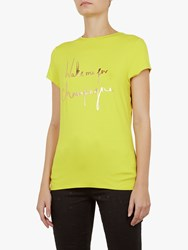 Ted Baker Lolyata Wake Me Up For Champagne T Shirt Yellow