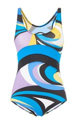 Emilio Pucci Scoop Neck Swimsuit Print
