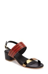 Callisto Women's Mishka Slingback Sandal Red Faux Leather