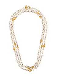 Chanel Vintage Triple Strand Pearl Necklace White
