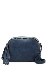 Urban Expressions Jupiter Faux Leather Crossbody Blue