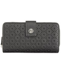Giani Bernini Softy Perforated All In One Wallet Only At Macy's Black Black