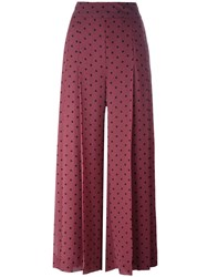 See By Chloe Polka Dot Print Trousers Pink And Purple