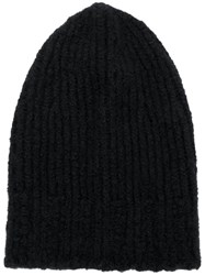 Danielapi Ribbed Beanie Black