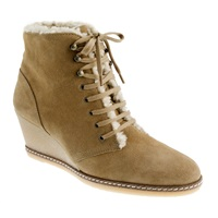 J.Crew Macalister Shearling Wedge Boots