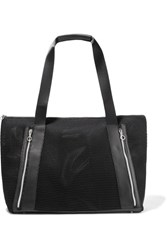Monreal London Victory Leather Trimmed Mesh Tote Black