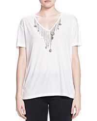 The Kooples Coin Detail Tee White