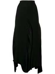 Romeo Gigli Vintage Draped Midi Skirt Black
