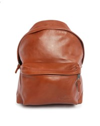 Eastpak Camel Padded Pak'r Leather Backpack