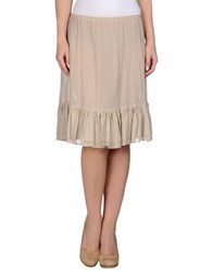 Niu' Skirts Knee Length Skirts Women Beige