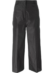 Rochas Dotted Cropped Trousers Black