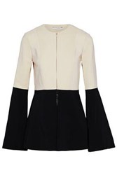 Rosetta Getty Fluted Two Tone Crepe Jacket Black