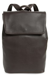 Matt And Nat 'Fabi' Faux Leather Laptop Backpack Grey Charcoal