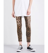 R 13 Kate Skinny Mid Rise Jeans Leopard