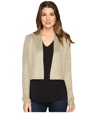 Calvin Klein Lurex Shrug Long Sleeve Sweater Gold Women's Sweater