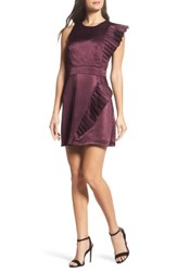 Ali And Jay Women's In Crown Satin Pleated Dress Wine