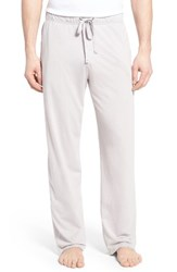 Daniel Buchler Men's Burnout Lounge Pants Light Grey