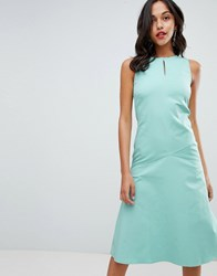 Closet London Midi Shift Dress Green