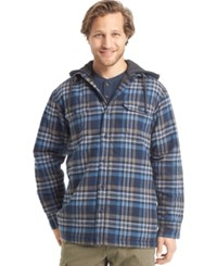 G.H. Bass And Co. Sherpa Lined Flannel Shirt Jacket Midnight