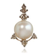 Annoushka Diamond And Pearl Stud Earring Female Rose Gold