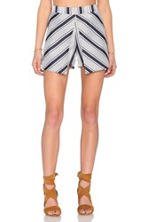 Lavish Alice Stripe Skort Navy
