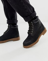 Red Tape Black Buckland Boot