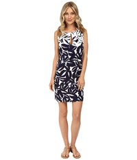Tommy Bahama Graphic Jungle High Neck Short Dress Cover Up Mare Navy White Women's Swimwear Gray