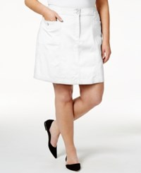Karen Scott Plus Size Skort Only At Macy's Bright White
