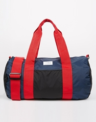 Farah Packaway Barrel Bag Navy