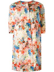 Si Jay Floral Print Coat Women Polyester 42 Nude Neutrals