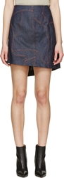 Cnc Costume National Blue Asymmetrical Denim Skirt