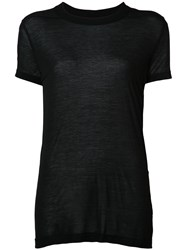 Rick Owens Drkshdw Semi Sheer Round Neck T Shirt Women Viscose S Black