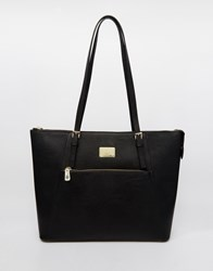Marc B Structured Tote Bag With Zip Top Fastening Black