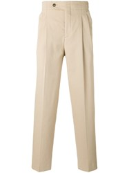 Editions M.R High Waist Trousers Men Cotton Polyester 46 Nude Neutrals