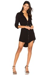 Michael Lauren Charlie Button Up Shirt Dress Black