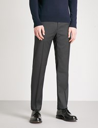 Ralph Lauren Purple Label Anthony Slim Fit Tapered Wool Trousers Charcoal