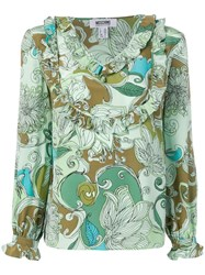 Moschino Vintage 2000'S Printed Top Green