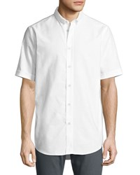 Rag And Bone Smith Short Sleeve Classic Fit Shirt White