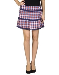 Duck Farm Mini Skirts Blue