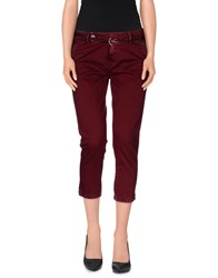 Truenyc. Trousers 3 4 Length Trousers Women Garnet